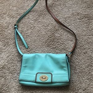 Kate spade teal aqua crossbody wallet chain purse